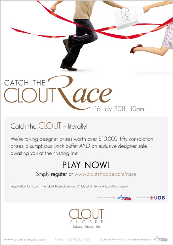 Catch the Clout Race poster design