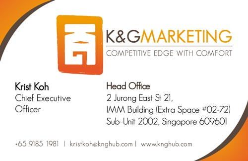 K&G Marketing namecard design (front)