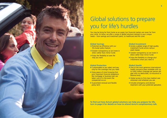 Aviva brochure design