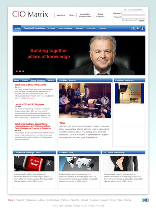 CIO Matrix website design
