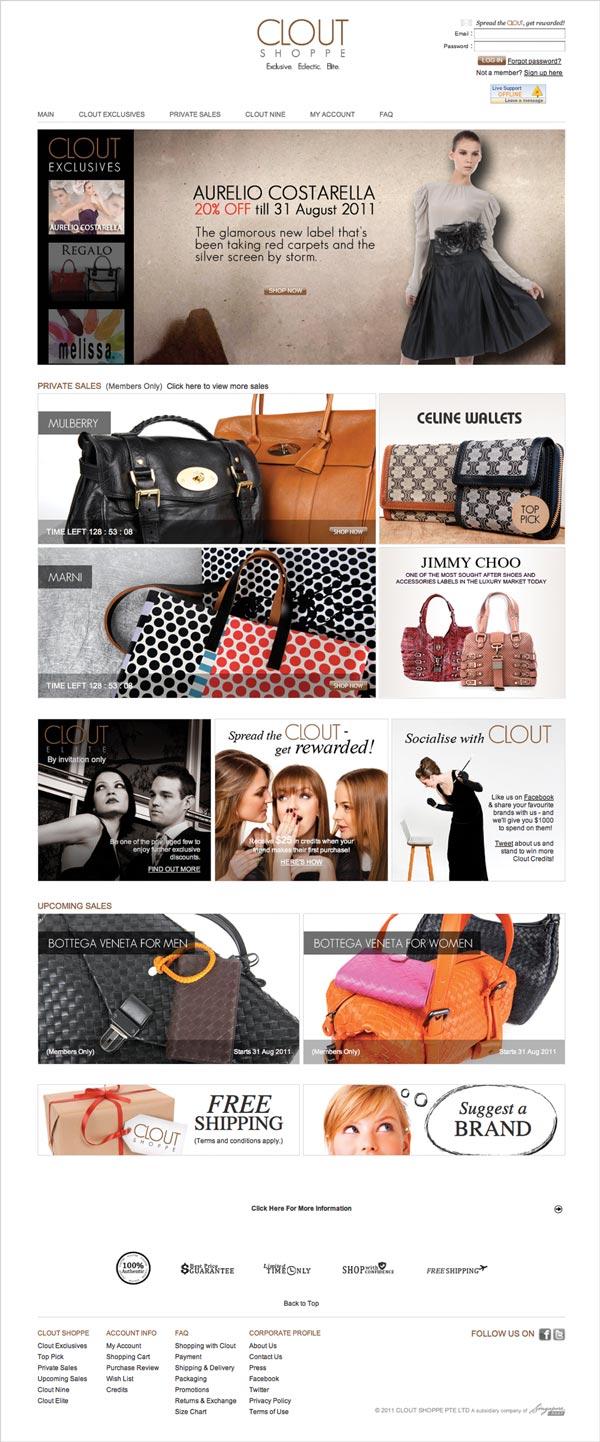 CloutShoppe web design