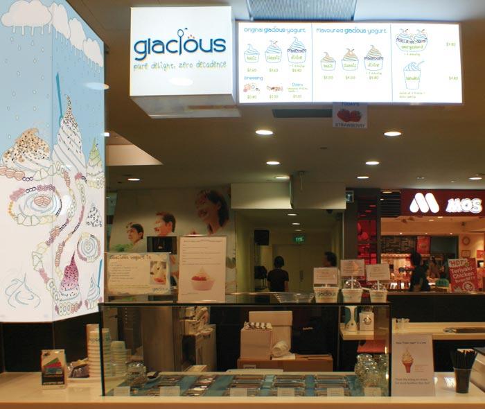 Glacious branding and illustration