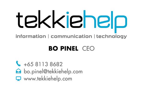 Tekkie Help namecard design