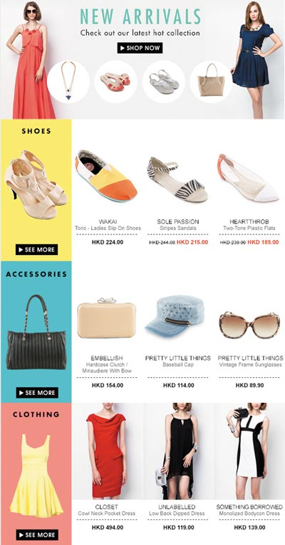 Zalora newsletter design