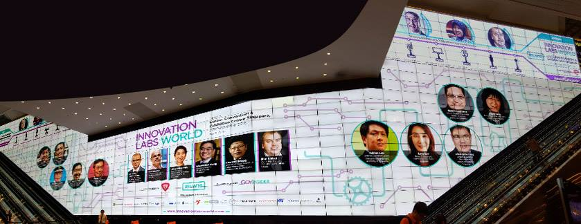 Innovation Labs World widescreen, Suntec City Convention