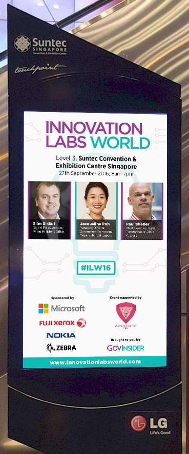 Innovation Labs World TV screen, Suntec City Convention