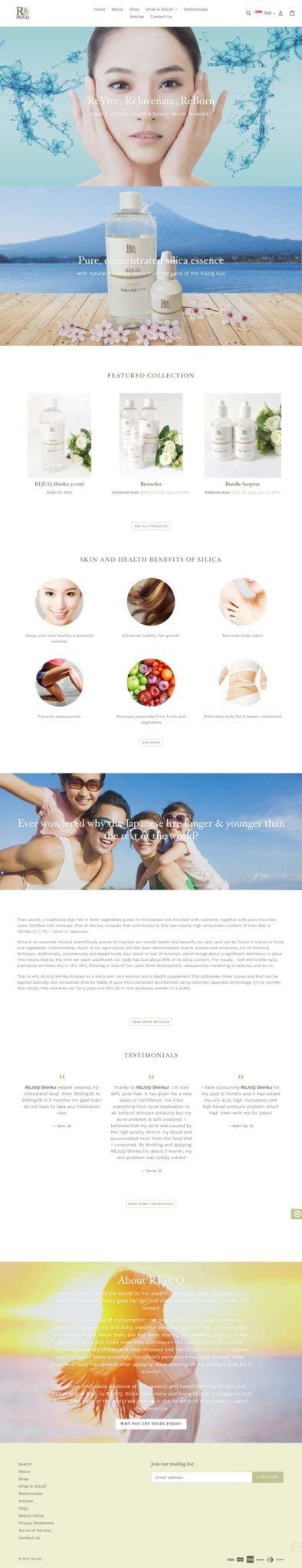 REJUQ Shirika web design