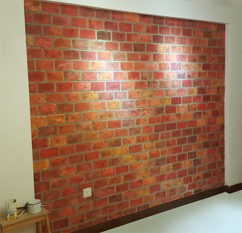 Authentic Faux Brick Wall 10 Diy Steps With Joint Compound