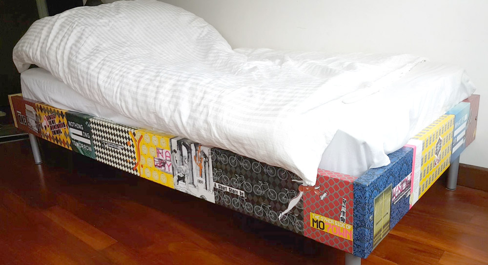 Decoupaged Bed Frame